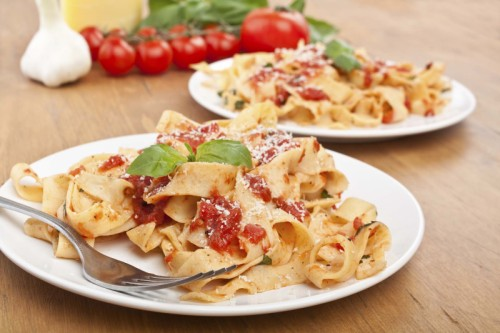 Paradicsomos pappardelle